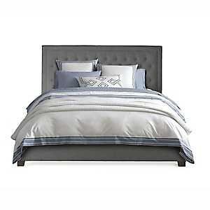 Spencer Gray Upholstered King Bed