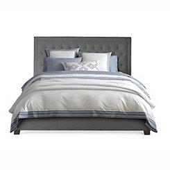 Spencer Gray Upholstered King Bed