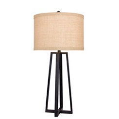 Black Molded Metal Table Lamp