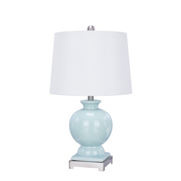 Light mint green ceramic table lamp kirklands mozeypictures Image collections
