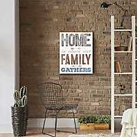 Home is Where Our Family Gathers Canvas Art Print