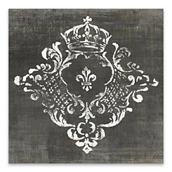 Crest Dark Canvas Art Print