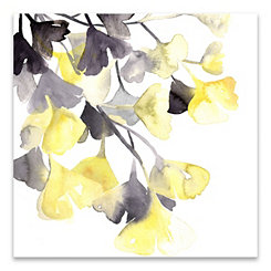 Sunrise Ginko Leaves Canvas Art Print