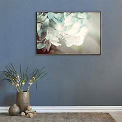 Mint Hydrangea Framed Canvas Art Print