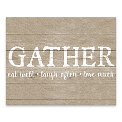 Gather Faux Wood Canvas Art Print
