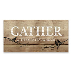 Gather With A Grateful Heart Canvas Art Print