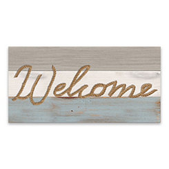 Welcome Rope Canvas Art Print