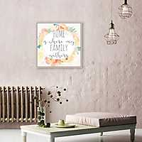 Home is Where My Family Gathers Framed Art Print