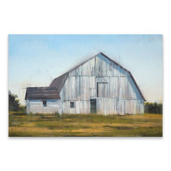 Barn in Field Canvas Art Print