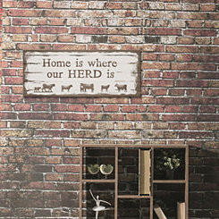Home is Where Our Herd is Canvas Art Print