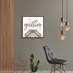 Gather Medallion Canvas Art Print