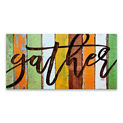 Gather Colorful Slats Canvas Art Print