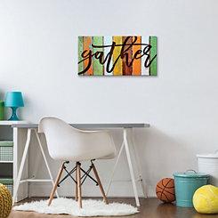 Gather Colorful Slats Canvas Art Print
