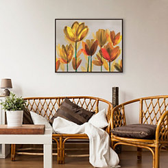 Yellow Poppies Framed Canvas Art Print