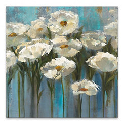 Anemones by the Lake Canvas Art Print