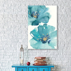 Teal Cosmos I Canvas Art Print