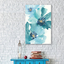 Teal Cosmos II Canvas Art Print
