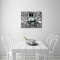 Bicycle by Rural Cottage Canvas Art Print