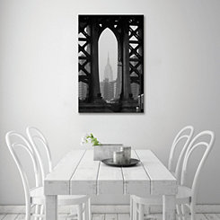 View Through the Bridge Canvas Art Print