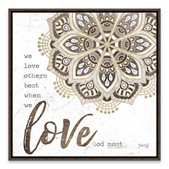 Love God Most Framed Canvas Art Print