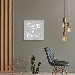 Always and Forever Framed Canvas Art Print