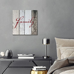 Family on Wood Canvas Art Print