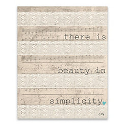 There is Beauty Canvas Art Print