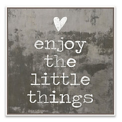 Enjoy the Little Things Framed Canvas Art Print