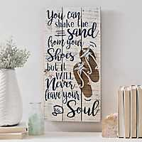 Sand Never Leaves Your Soul Wall Plaque