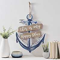 Happy Place Anchor Wall Plaque