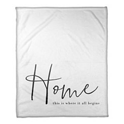 Where It All Begins Fleece Throw Blanket