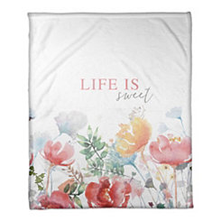 Life is Sweet Fleece Throw Blanket