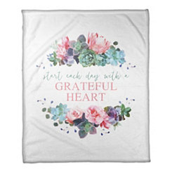 Grateful Heart Fleece Throw Blanket
