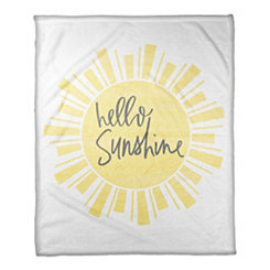 Hello Sunshine Fleece Throw Blanket