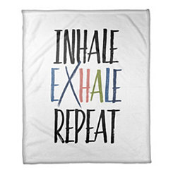 Inhale Exhale Repeat Fleece Throw Blanket