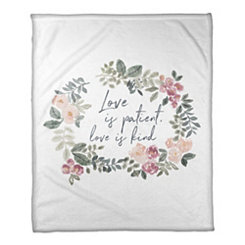 Love is Patient Fleece Throw Blanket