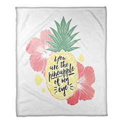 Pineapple of My Eye Fleece Throw Blanket
