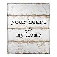 Your Heart is Home Faux Wood Fleece Throw Blanket
