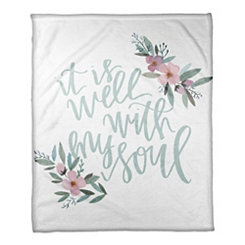 It is Well With My Soul Fleece Throw Blanket