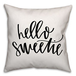 Hello Sweetie Pillow