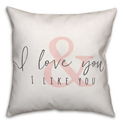 I Love You & I Like You Pillow