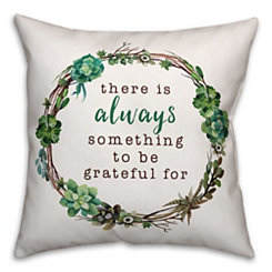 Always Grateful Succulent Pillow