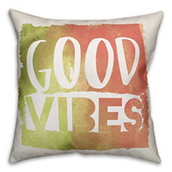 Good Vibes Watercolor Pillow