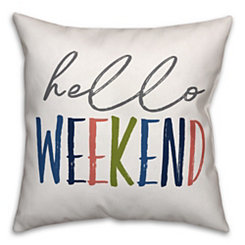 Hello Weekend Pillow