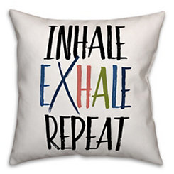 Inhale Exhale Repeat Pillow
