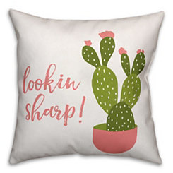 Lookin' Sharp Cactus Pillow