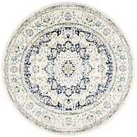 Round Blue Verona Area Rug, 5 ft.