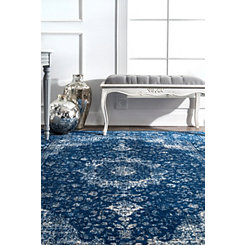 Dark Blue Verona Area Rug, 8x10