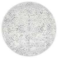 Round Ivory Odell Area Rug, 8 ft.