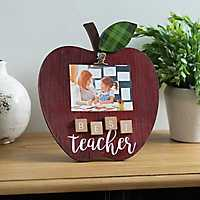 Best Teacher Apple Picture Frame with Clip, 4x6